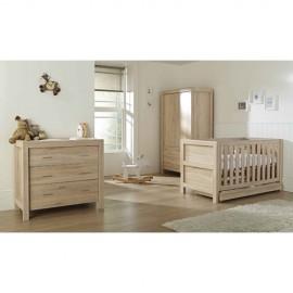 Set mobilier Milan Reclaimed Oak format din 3 piese: patut, comoda si dulap