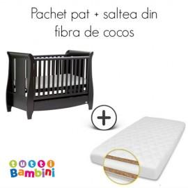 Set patut cu saltea pentru bebelusi Lucas Expresso Tutti Bambini