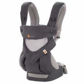 Marsupiu Ergobaby Cool Air Carbon Grey 4 pozitii 360