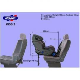 Scaun auto Klippan KISS 2 PLUS ISOFIX 0-18 Kg