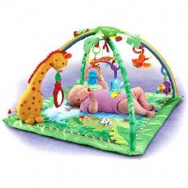 Spatiu joaca pentru copii Fisher Price Rainforest Melodies Lights Deluxe Gym