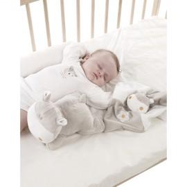 Perna si suport somn bebelusi cu paturica Hippo by Jane