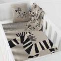 Quax - Paturica crosetata casa si excursii 80 x 65 cm Zebra