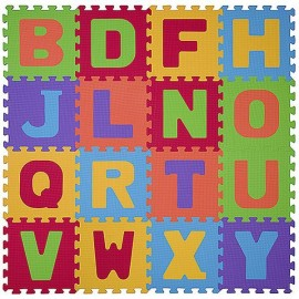 Puzzle 16 piese 6m+ Litere - BabyOno