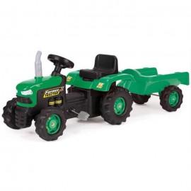 BabyGo - Tractor cu remorca Green