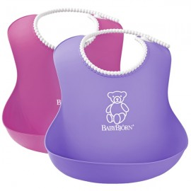 BabyBjorn - Set 2 bavete Soft Bib Pink-Purple