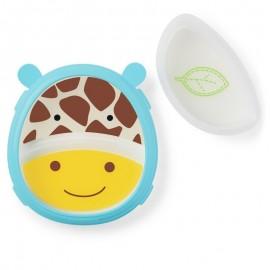 Set farfurie si bol Skip Hop Zoo Smart Girafa