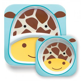 Set farfurie si bol Skip Hop Zoo Girafa
