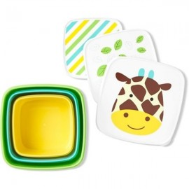 Set 3 cutii pentru pranz Skip Hop Zoo Girafa