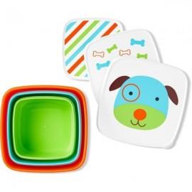 Set 3 cutii pentru pranz Skip Hop Zoo Catel