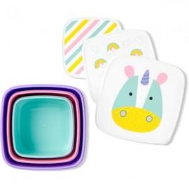 Set 3 cutii pentru pranz Skip Hop Zoo Unicorn