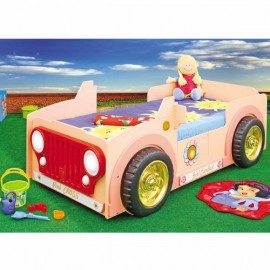 Patut in forma de masina Jeep Pink Plastiko