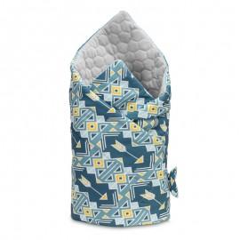 Paturica nou-nascut Sensillo Velvet Wrap 75x75 cm