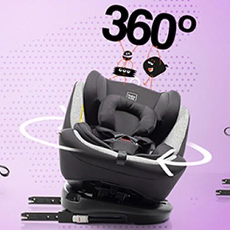 Scaun auto BABYAUTO VOLTA Isofix rotativ 360 grade 0-36 kg