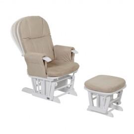 Fotoliu reglabil pentru alaptat cu suport pentru picioare GC 35 White Tutti Bambini