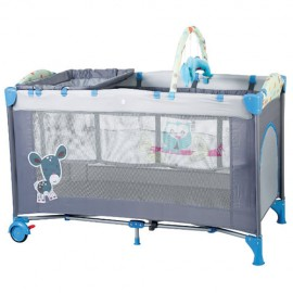 BabyGo BGO4404 Patut pliant cu 2 nivele SleepWell