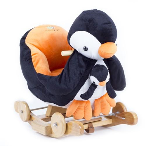 Balansoar cu roti 2 in 1 Pinguin cu sunete Kinderkraft