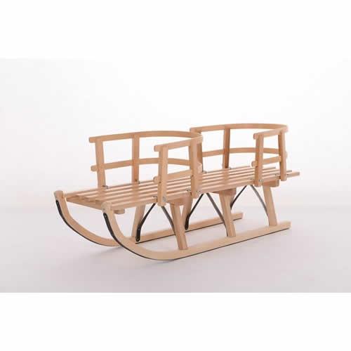 Saniuta din lemn pentru gemeni Mesterel